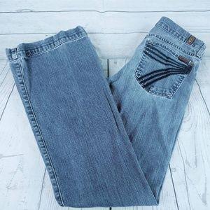 7FAM Dojo Wide Leg Jeans Sz 27